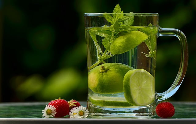 8 vasos de agua